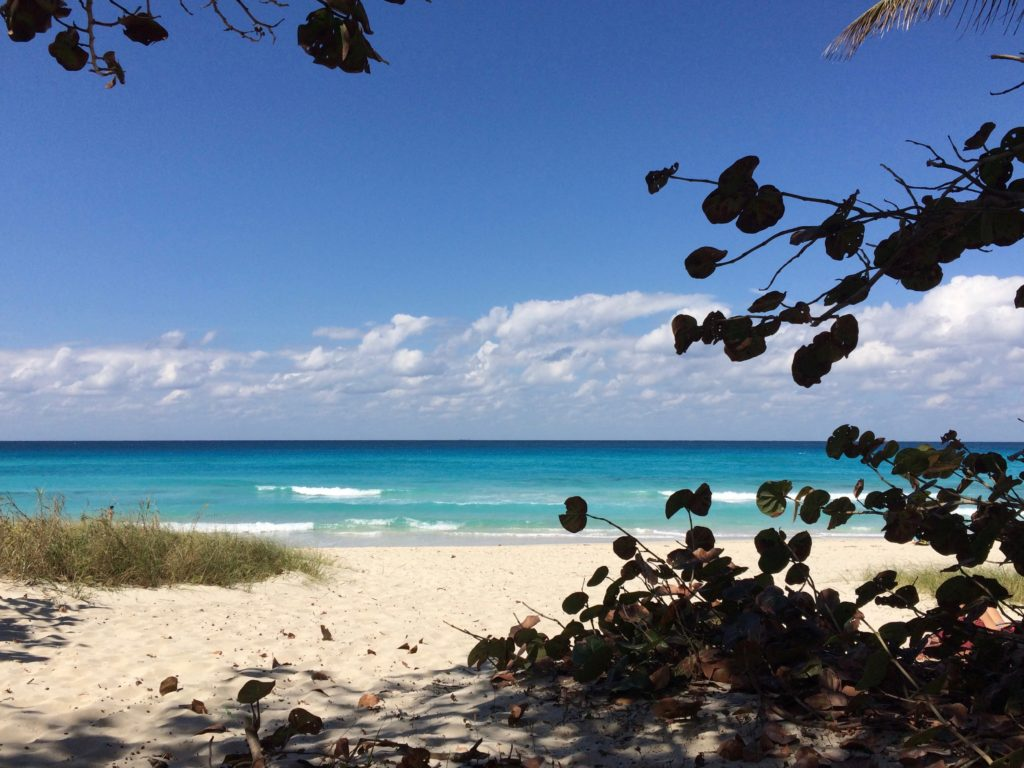 a view on blue water, white sand at Varadero Beach that must be in your 10 days Cuba itinerary