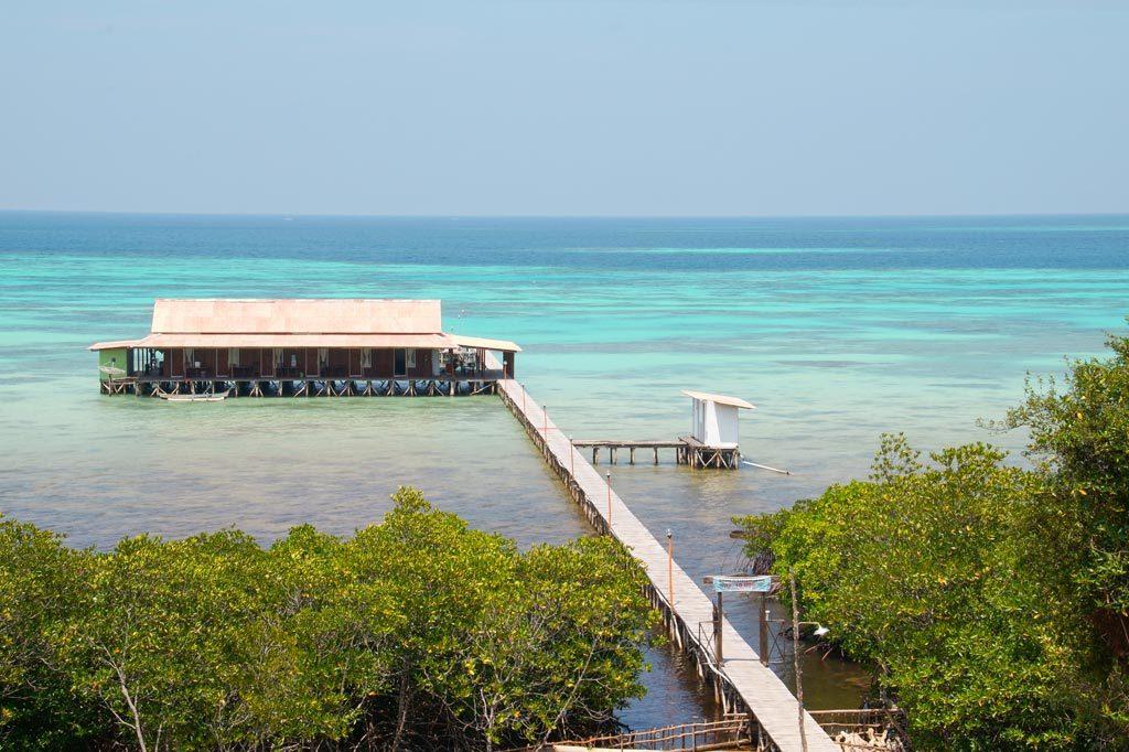 a house on the water on Karimunjawa islands
