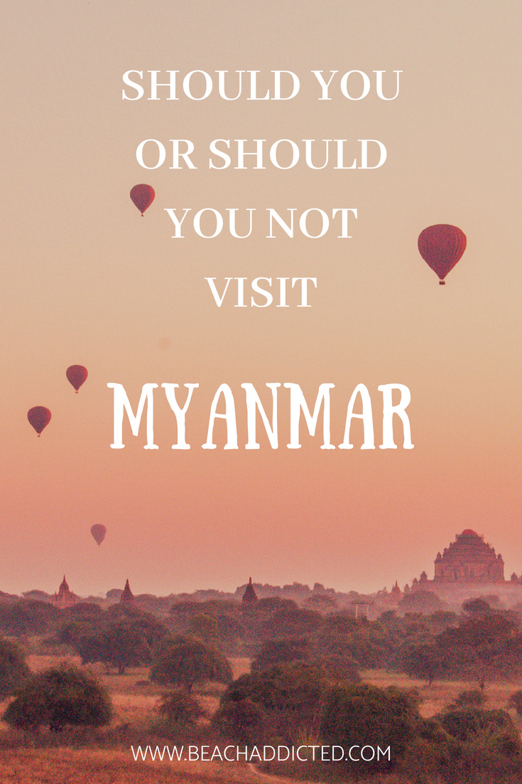 If you are not sure whether to visit Myanmar or not, here you will find more details about the highlights from Myanmar, the safety and what you can expect once you visit Myanmar #myanmar#myanmartravel#bagan#ngapalibeach