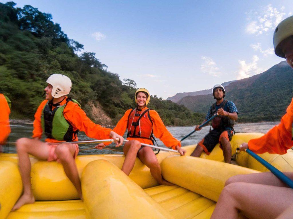 RAFTING on Inca jungle trail