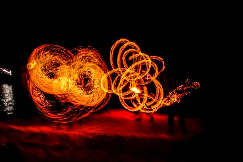 fire show at Full Moon Party in Thailand