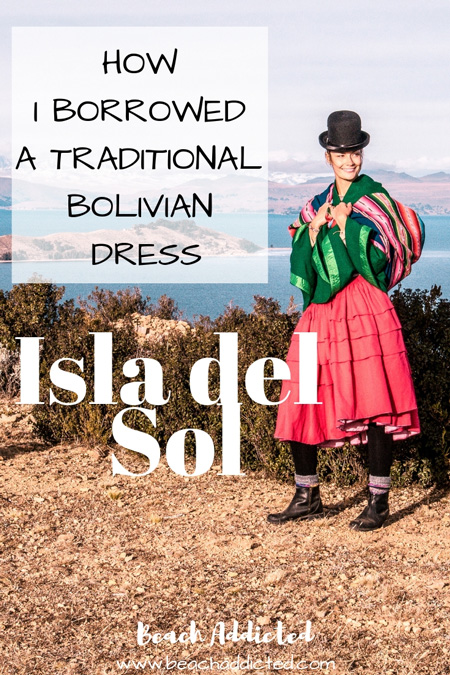 how I borrowed a traditional Bolivian clothing on Isla del sol. #isladelsol#bolivia#traditionalboliviandress#traditionalbolivianclothing#boliviatravel#isladelsolbolivia