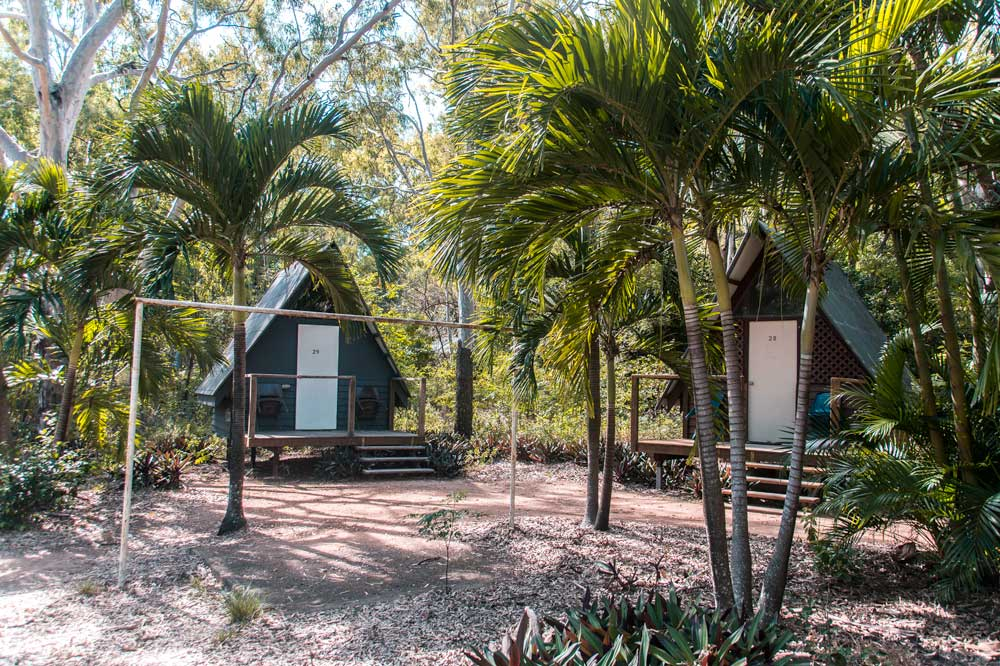 2 bungalows surrounded by garden on magnetic island