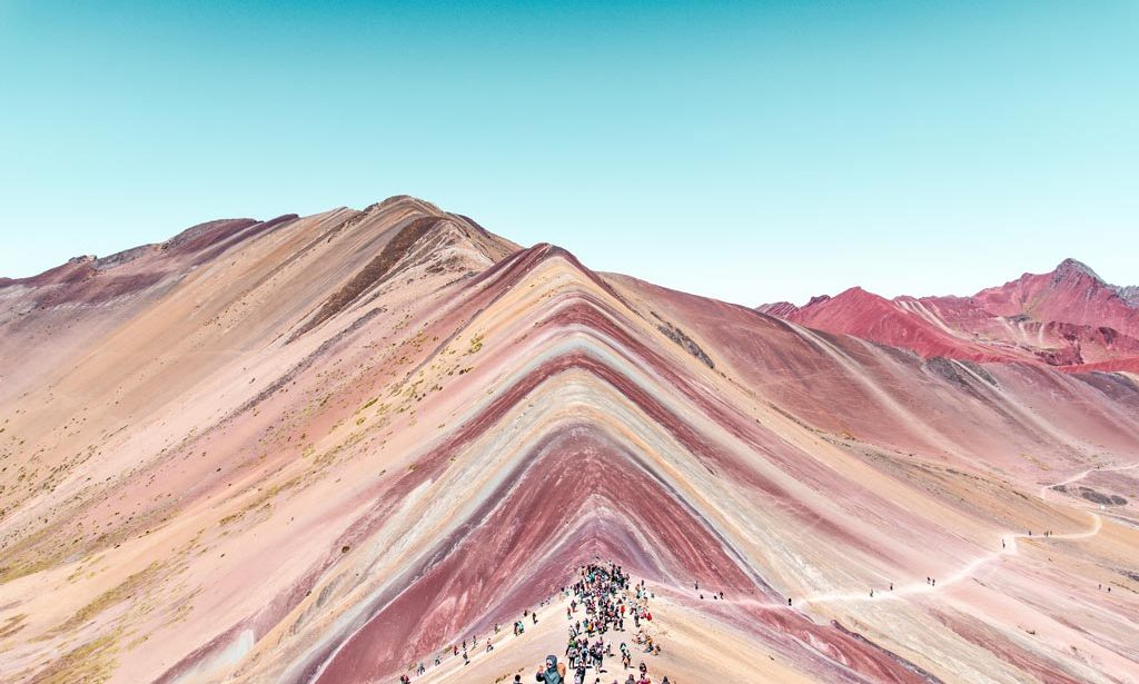 the view on rainbow mountain