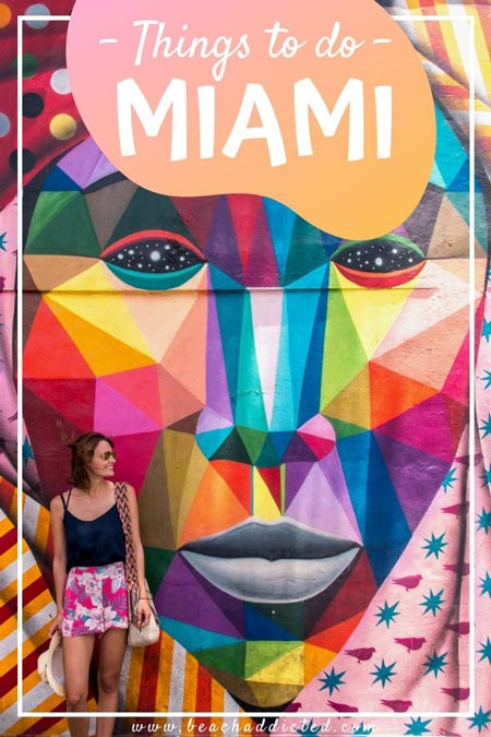 best things to do in Miami girl in front of colorful mural