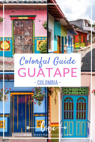 ultimate colourful guide to Guatapé, photo collection of beautiful frescoes, colourful streets