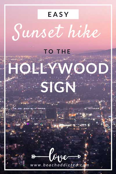 watch pink skies and view on LA during your 1 hour Sunset hike to the Hollywood sign