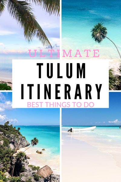 ULTIMATE TULUM ITINERARY with epic things to do, perfect for five days trip