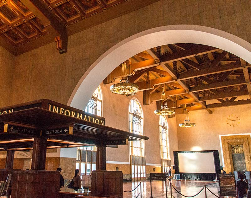 train station in LA with information point