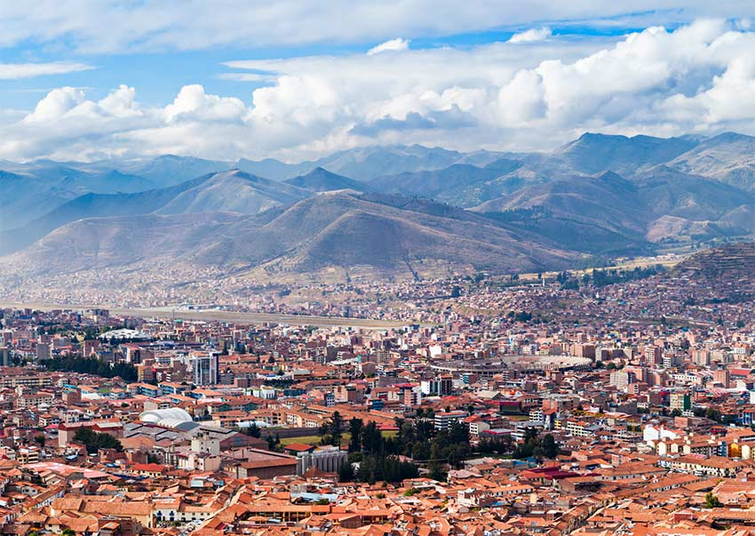 view on Cusco from San Blas, which is the best area to stay in Cusco