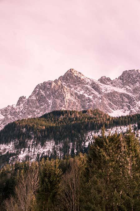 View on mountains near Zuspitze